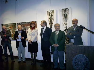 Funcionarios municipales con Salvador Massa.