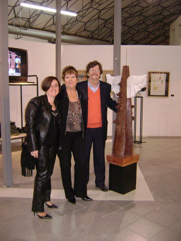 Junto a la directora del Museo Municipal, Mabel Righy
