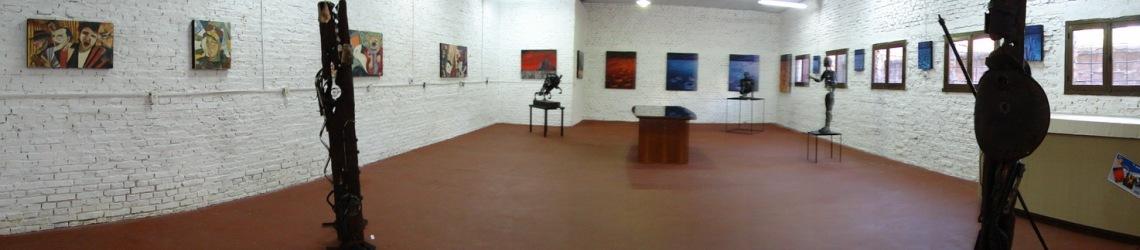 Vista Panorámica de la sala, con la muestra armada.
