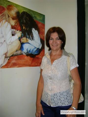 Cristina de Miguel, con su trabajo.