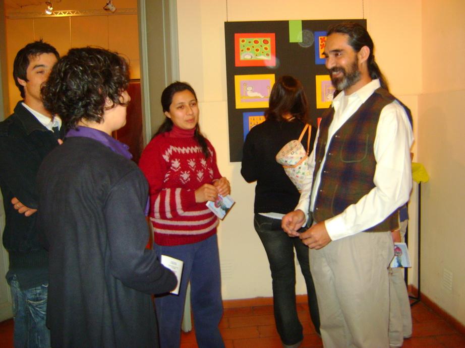 Fernanda y sus maestros.
