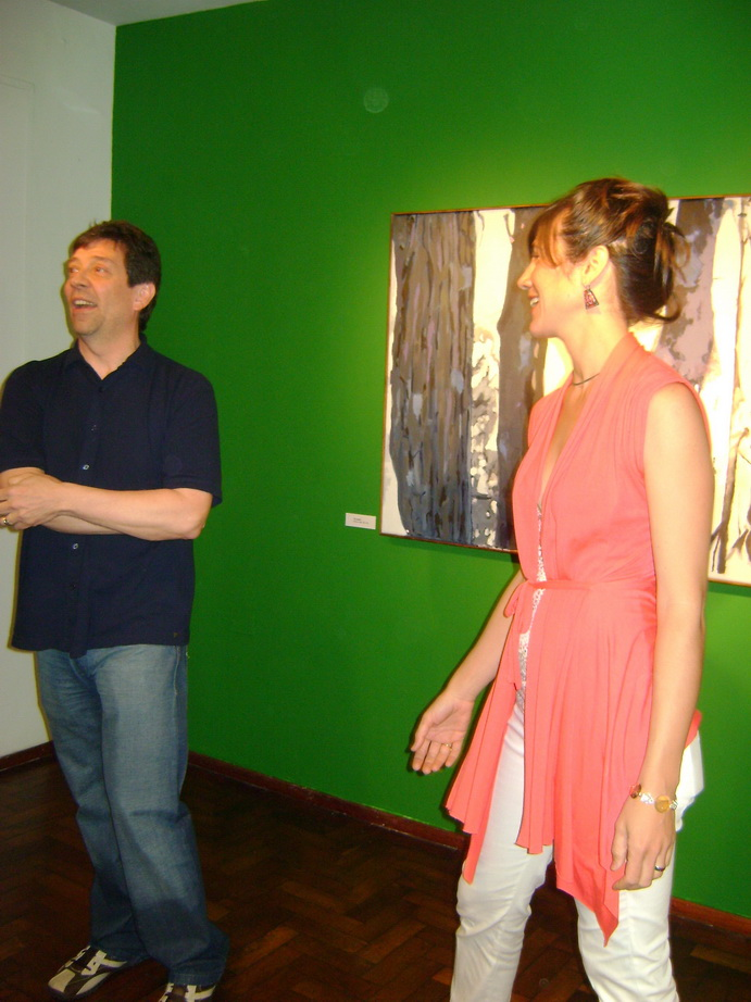 Guillermo Aleu con Inés, ceremonia de apertura.