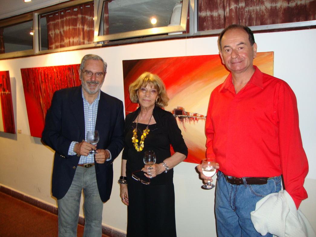 Hugo Lazzarini, Liliana Pantanali y L.Papanek, artista de nuestro medio.