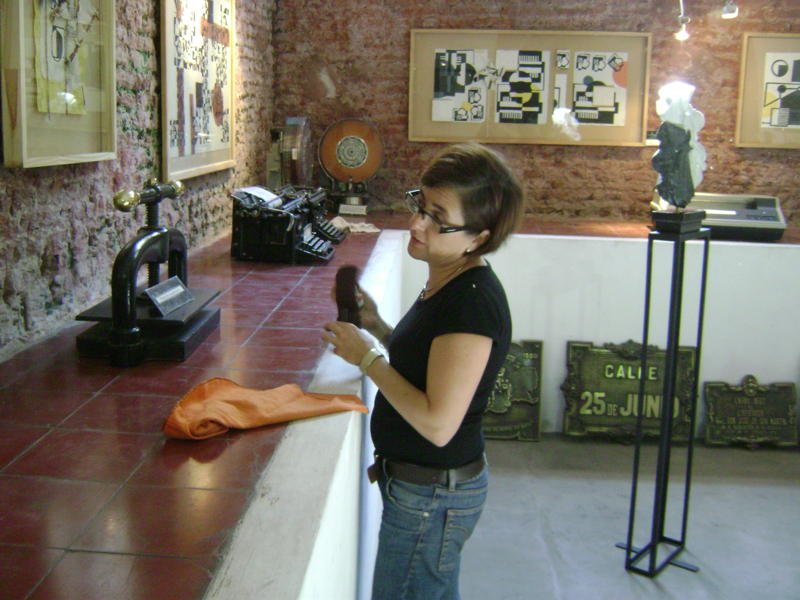Geraldhyne Fernandez en el montaje.