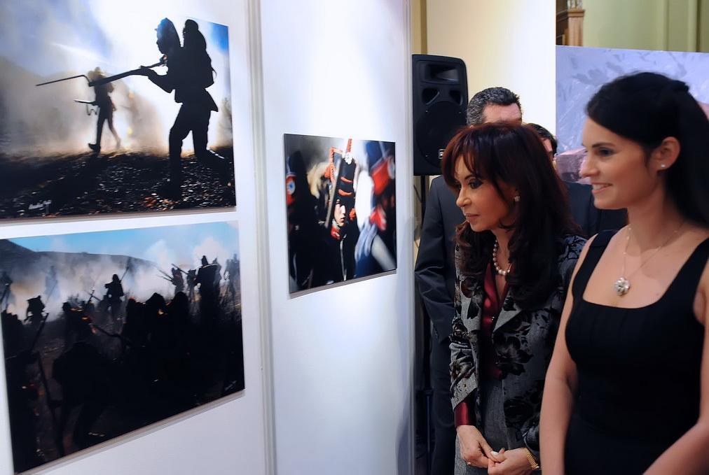 La muestra llega de Buenos Aires, estuvo expuesta en la casa Rosada.