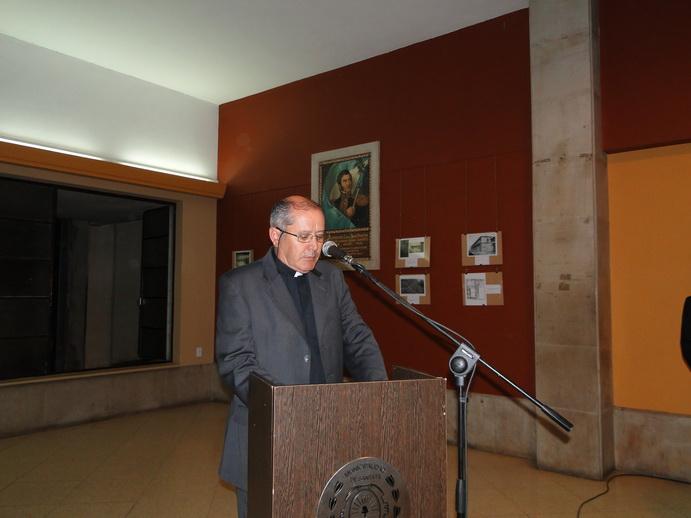 El padre Alejandro Gauffin, en su alocución