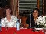 Fabiana Villa junto a Liliana Spadini, en la presentacion del trabajo el pasado Jueves 12 en San Justo.