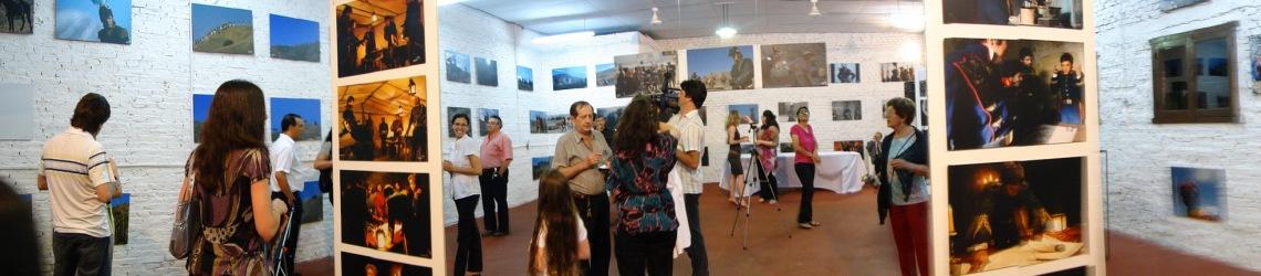 Panoramica de la sala, con los visitantes