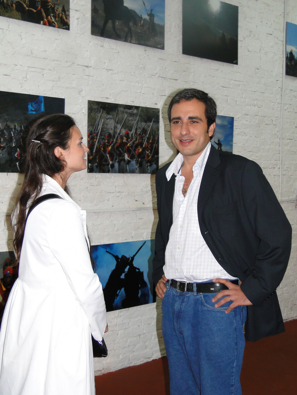 Oscar Martínez y Nadia Ingaramo.