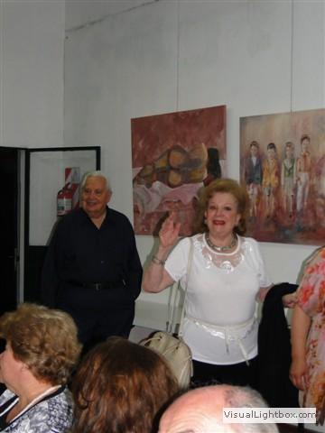 La agasajada hace su ingreso: Norma Guastavino.