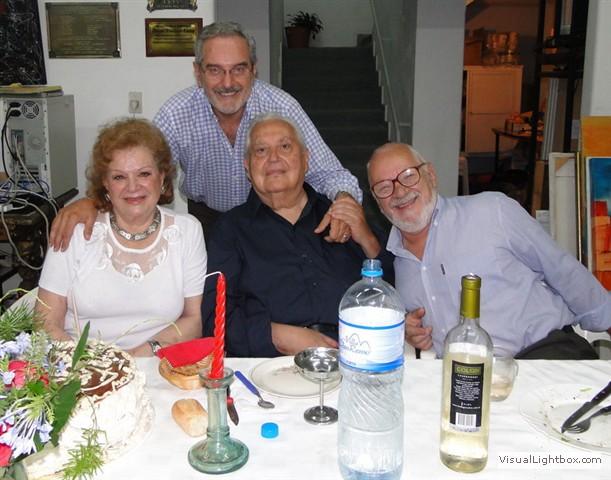 Norma Guastavino,Dardo Sejas,Benito Postogna. Detrás, Hugo Lazzarini.