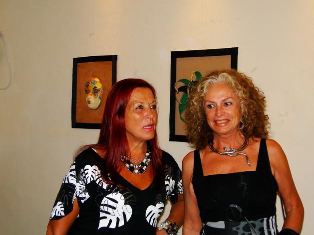 Silvia Cuffia y Marta Goyri, en la muestra