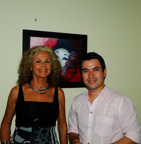 Marta Goyri y Francisco Ruifernández, Director de Prensa Fundacion Centro