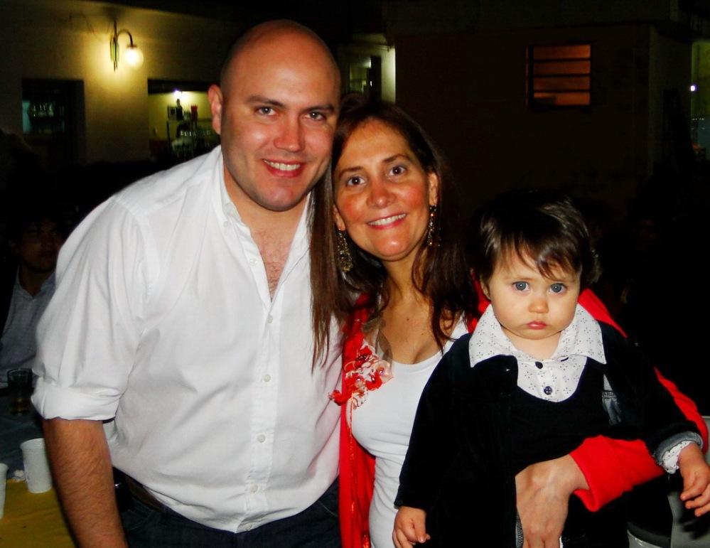 Pablo Romero, Marcela Aeberhard y Victoria