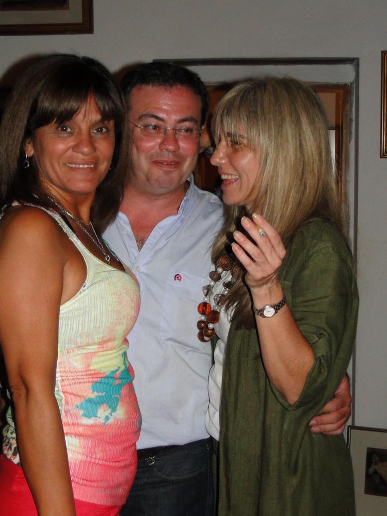 Claudia Hoyos, Martín Gainza y Gabriela