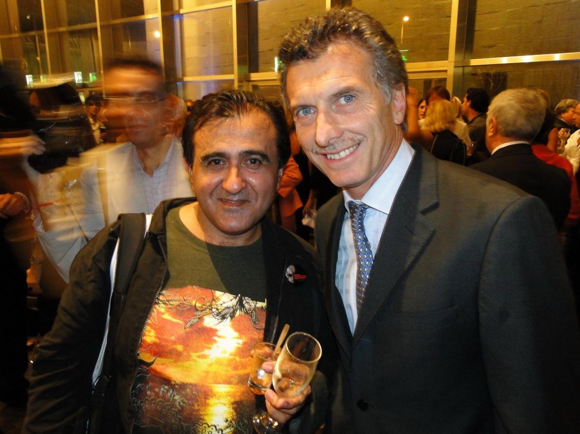 Mauricio Macri posó junto a Luz de Ciudad.