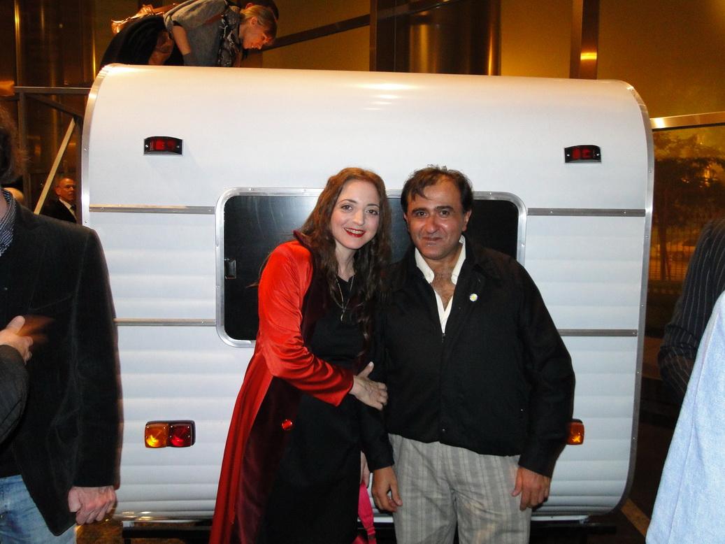 Nicola Constantino con el director de CANDACE.