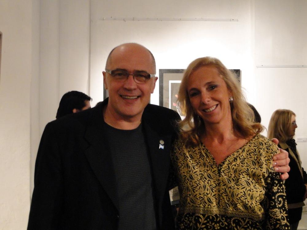 Lucila Fosco, regente de la institucion, con Pepe Volpogni.