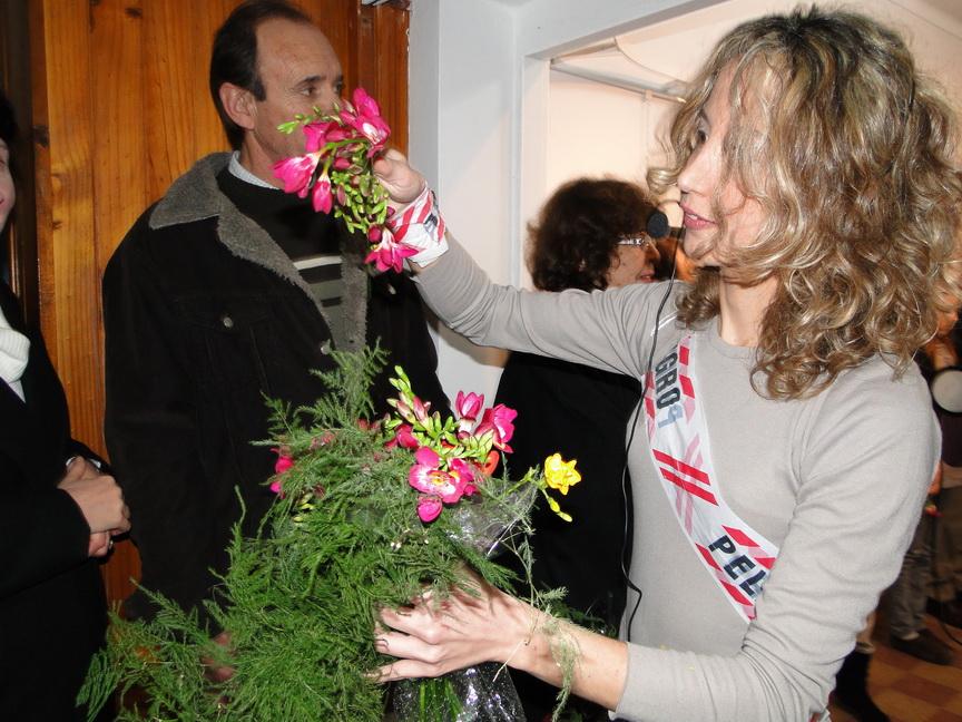 Alfonsina RAbellino, en un momento de su performance