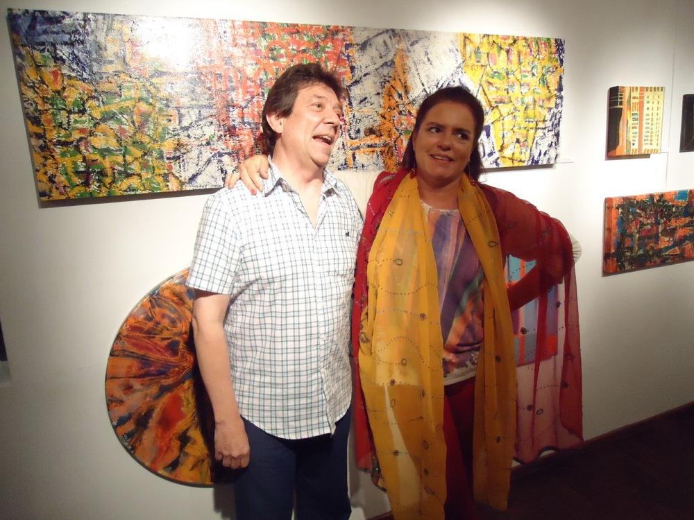 Guillermo Aleu junto a Victoria Recalde