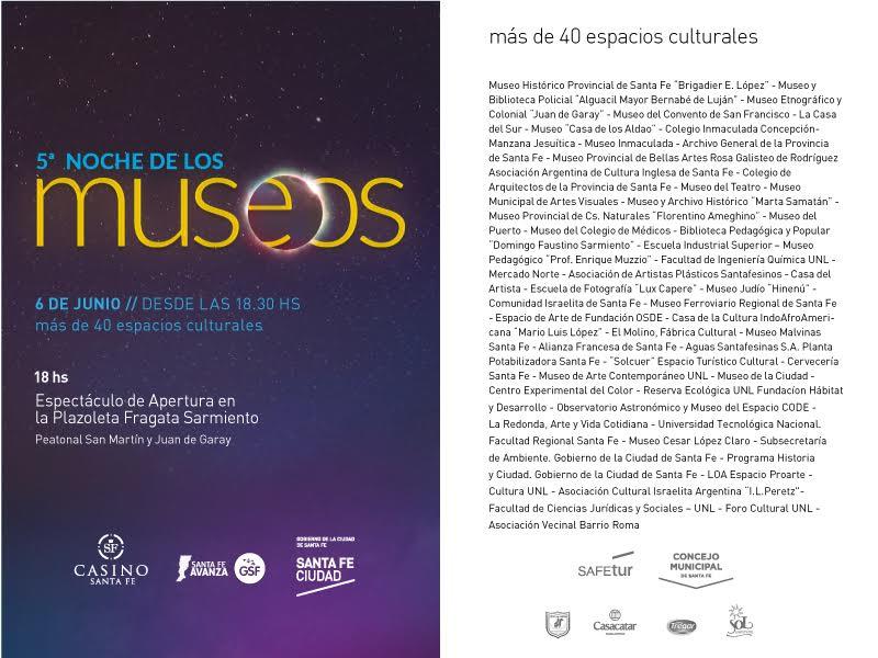 5 NOCHE DE LOS MUSEOS SANTA FE