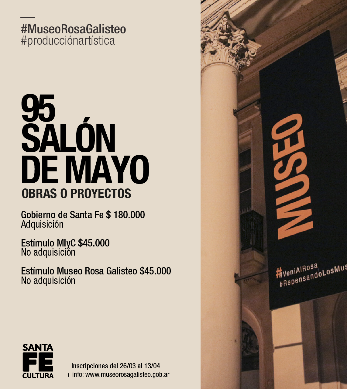 MUSEO ROSA GALISTEO| 95° SALON DE MAYO.