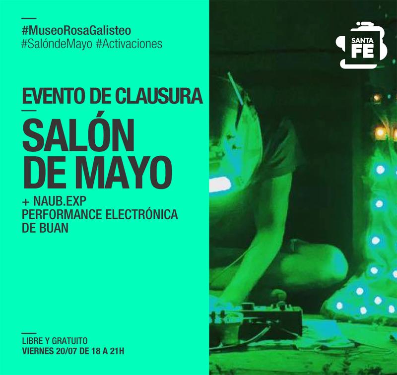 PERFORMANCE DE BUAN| CIERRE DEL SALON DE MAYO EN EL ROSA GALISTEO.