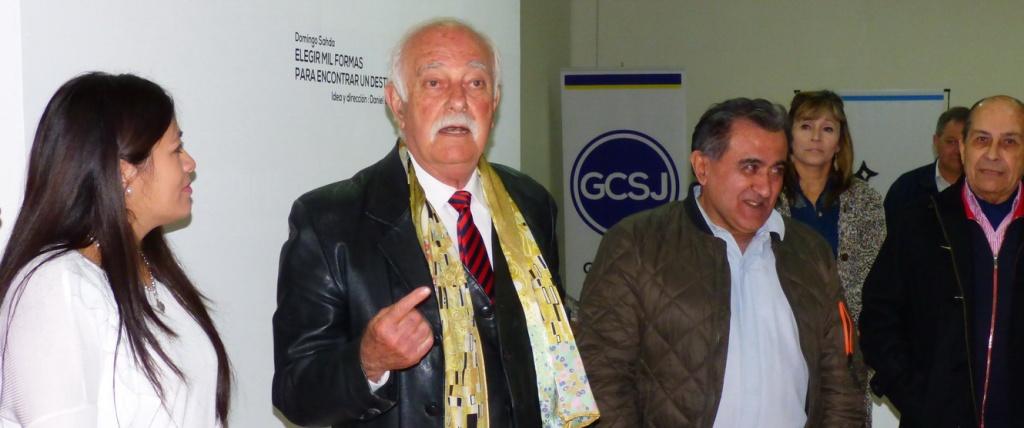 Domingo Sahda en la Exposicion