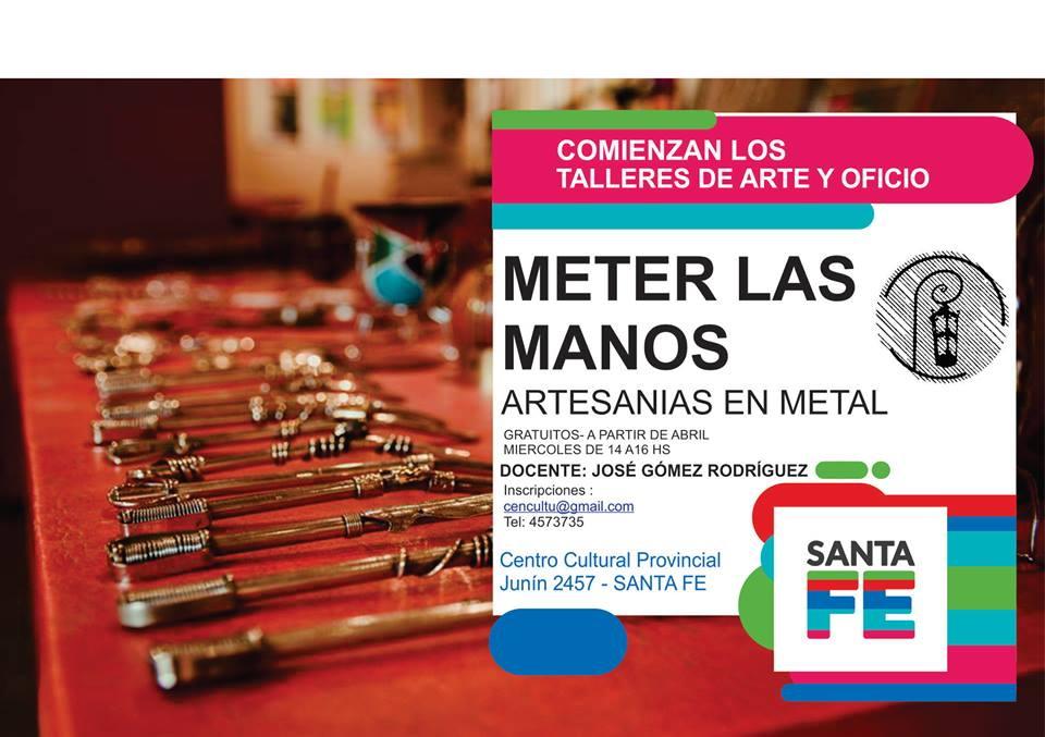 ARTESANIAS EN METAL|TALLER DE JOSE GOMEZ RODRIGUEZ EN EL CENTRO CULTURAL PROVINCIAL