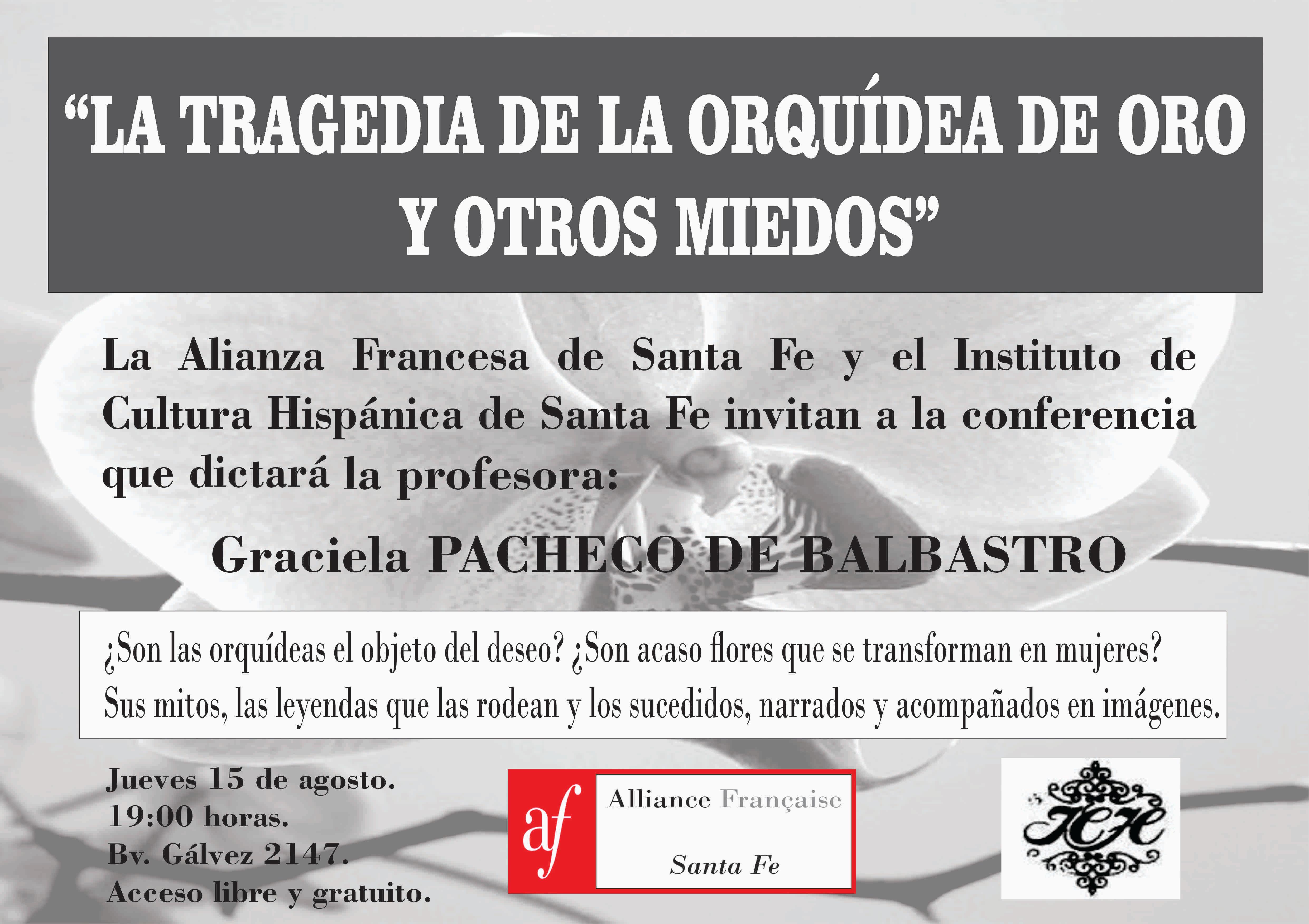 GRACIELA PACHECO BALBASTRO|DISERTACIÓN SOBRE LAS ORQUIDEAS.
