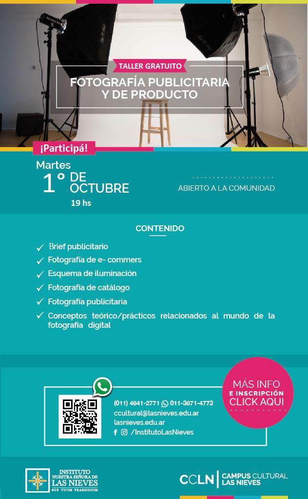 FOTOGRAFIA PUBLICITARIA Y DE PRODUCTO EN EL CAMPUS CULTURAL LAS NIEVES