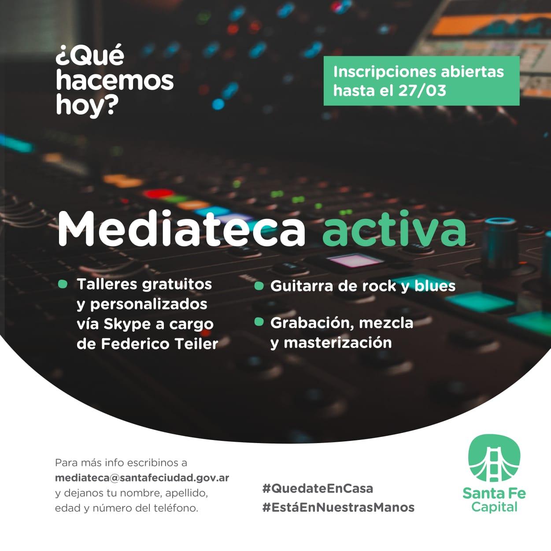 LA MEDIATECA VIA SKYPE|INSCRIBITE EN LOS TALLERES DE FEDERICO TEILER.