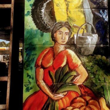 jorge gamarra, mural plaza de los trabajadores